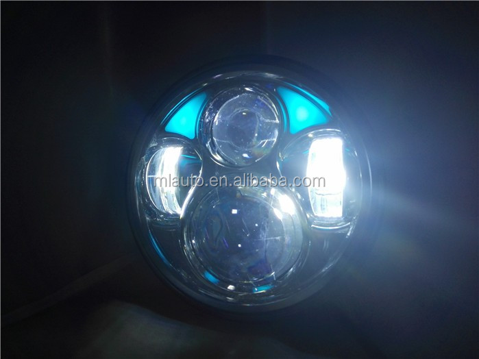 Round Harley light 5040DA Hi/Lo Beam Round 40w 3200LM IP67 motorcycle led headlight