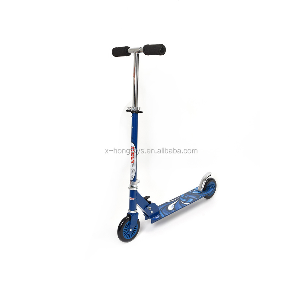 Cheap Children's PVC Wheels Cruiser Glidekick Metal Scooter Blue