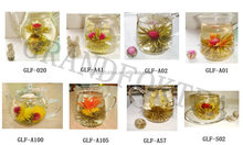Chinese special design blooming tea gold leaf jasmine flower tea