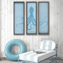 INTCO Ocean Style Wall Decorative Framed Art Picture Frame Set