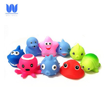 BPA free vinyl material sea squirters toy baby bath squirt toy