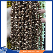 whole Exquisite Three-dimensional bronze Resin Coral Flower Charm Beads for jewelry making