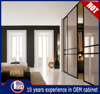 High quality indian laminate bedroom wardrobe designs sliding door