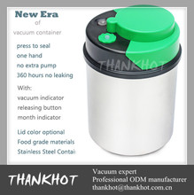 Colorful round Vacuum storage container with date indicator