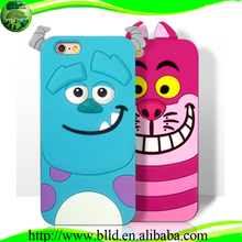 Waterproof cartoon character custom design 3d shaped animal silicone case for Iphone 6G