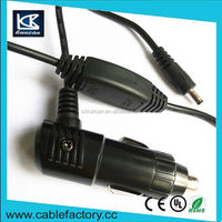 Popular design wholesale cigar charger cable,cigaret lighter plug with switch