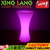 factory direct high quality LED cocktail table bar table bistro table with stretch cover