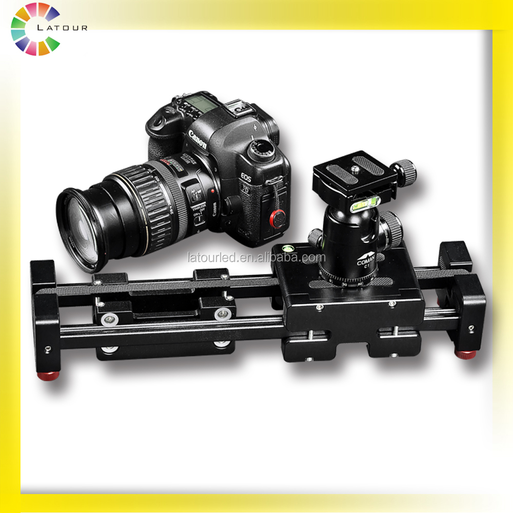 LATOUR camera support accessories double distance video slider plus for DSLR
