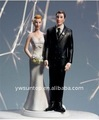 """The Love Pinch"" Bridal Couple Figurine for wedding cake toppers"