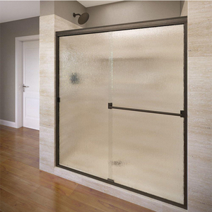 Modern Flat Rolling Sliding Shower Room Glass Door