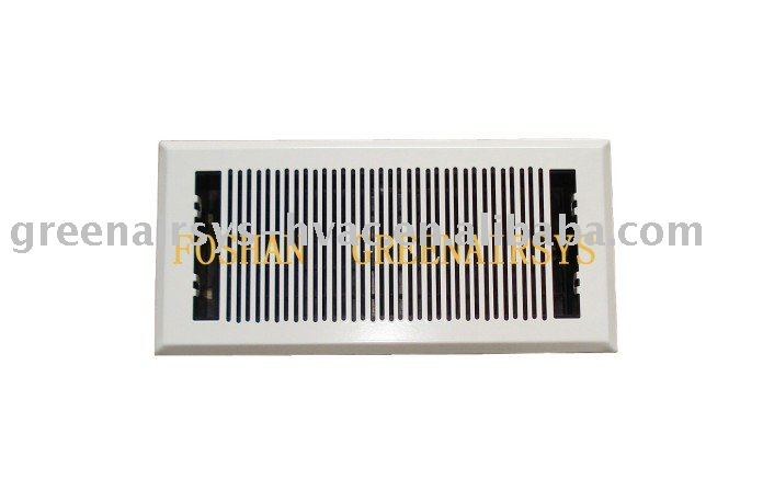 Floor Air Grille with Plastic Damper
