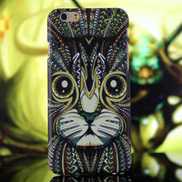 Animal Faces Protective Snap-on Hard luminous for iPhone 6,hard pc back case cover for iphone 5/6/6+