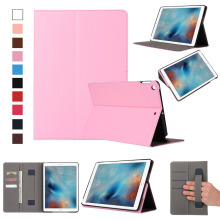 2018 New leather stand card holder flip cover tablet case for ipad 9.7 case