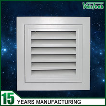 Powder coated finish fixed door core hinged type oversized door vent grille