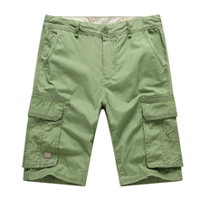 Wholesale green army color summer outdoor cargo men shorts
