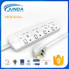 Top quality CE RoHS approval us standard 4 ways extension multiple power socket