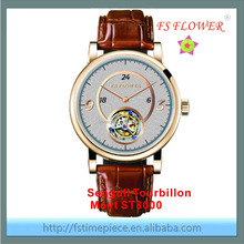 FS FLOWER - Luxury Top Quality Automatic Watch Man Italy Calf Leather Sapphire Crystal Custom Own Brand
