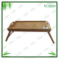 Hot sale natural bamboo bed serving tray