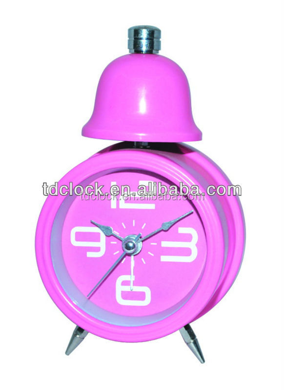 Single bell metal unique table clocks