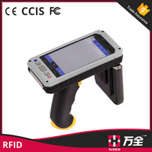 WIFI GPRS Bluetooth long distance 8m uhf rfid reader and android handheld barcode scanner