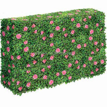 Garden decoration artificial grass boxwood hedge fence,outdoor uv resistant landscaping Artificial boxwood grass mat