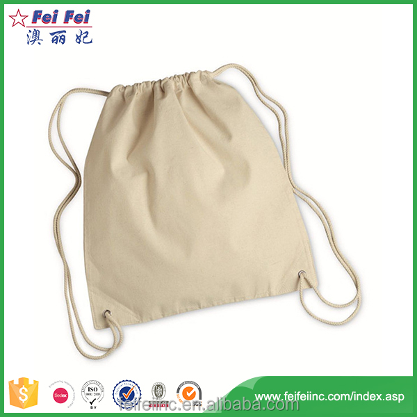New stylish foldable cheap canvas rope handle beach bag