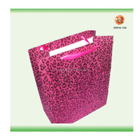 Printed Paper Bag with Ribbon Handle/luxury paper shopping bag:promotional paper boutique bags
