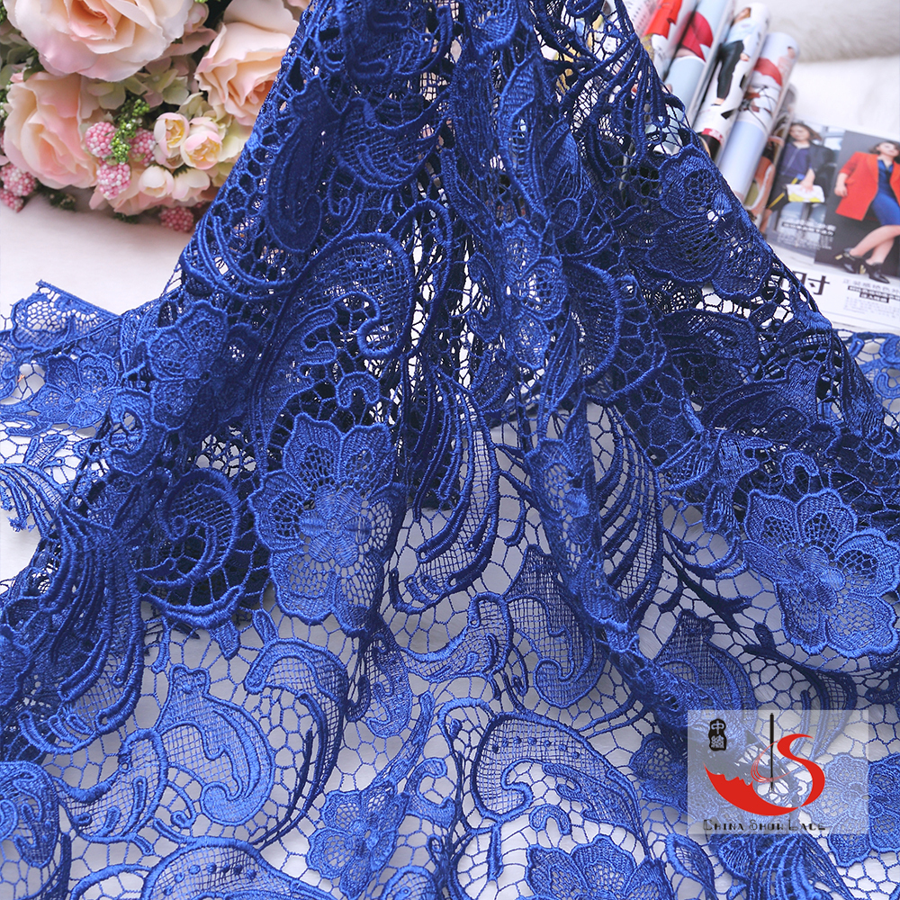 Latest cord korean african tokay polyester lace fabric