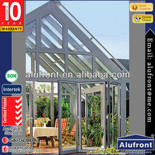 Customized Garden Glass Houses Aluminum Profile Glass Sunroom