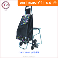 Asian Style Trolley Cart/Supermarket Shopping Trolley bag with Wheels/Grocery Cart with Different Capacities