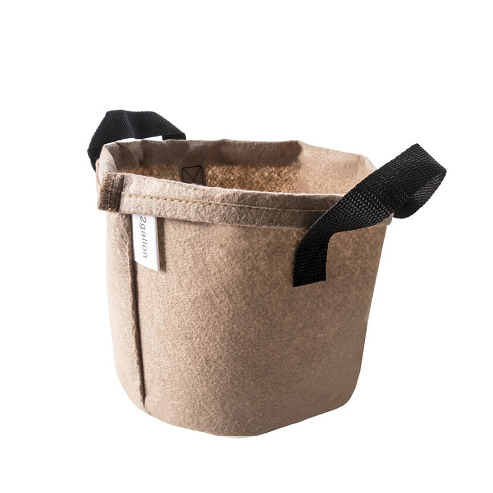 Heavy Duty 5 Gallon Thickened Nonwoven Garden Fabric Plant Felt Mushroom Potato Grow Bags Pots with Strap Handles for Planters