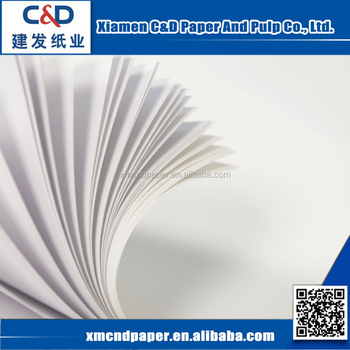 Custom Size Printing Wood Pulp Offset Printing Paper Woodfree Paper