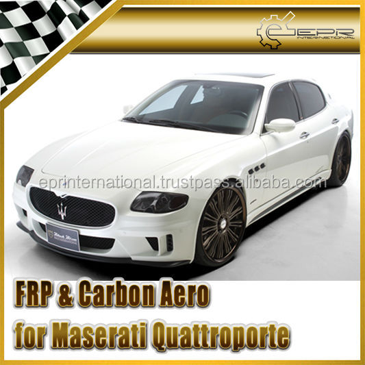For Maserati Quattroporte ~07 WD Style Fiber Glass Full Front Bumper Body Kit