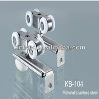 Factory stainless steel hanging wheels/sliding roller
