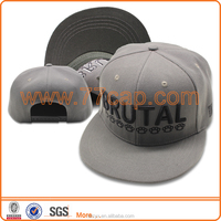 Fashion 2016 Cool Grey Gray Wool Custom Blank Snapbacks Hat Charcoal Snapback cap