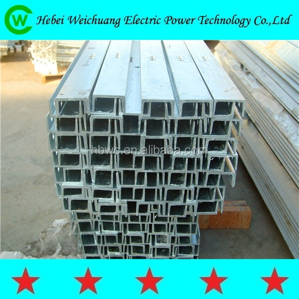 Electrical Tension / Straight Galvanized Steel Cross Arm