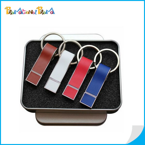 Customized Leather USB Flash Driver Gift Set