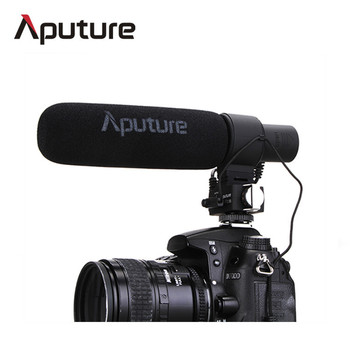 Aputure V-Mic D2 video recording wired shotgun condenser microphone with batteries included