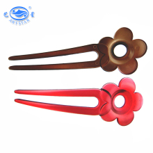 Plastic flower decorative magic hair stick