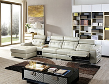 Luxury used living room furniture leather sofa from china with prices S135