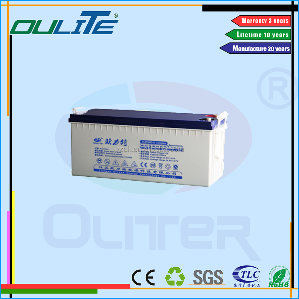 Wholesale price!Deep cycle 12v 200ah gel solar batteries