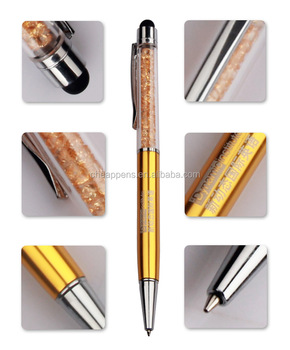 promotional Metal stylus ball pen with screen touch tip
