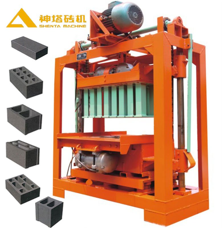 Low Investment Fly Ash Raw Material QTJ4-50 manual concrete block making machine