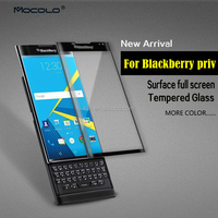 9H Premium Colored 3D Full Cover Film Tempered Glass Screen Protector For Blackberry Priv