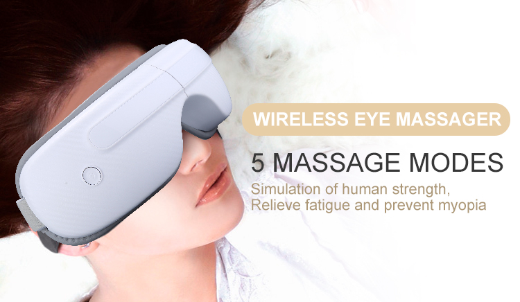 Misida 1600mAh Rechargeable 180 Degree Folding Music Play Download Hot Compress Vibration Air Pressure  Wireless Eye Massager