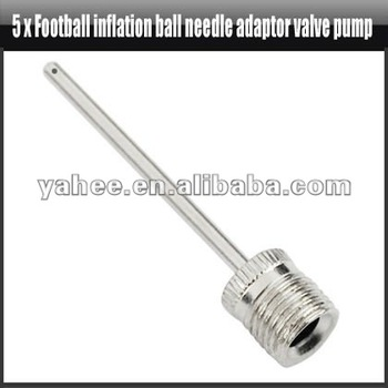 5 x Football Inflation Inflatable Ball Needle Adaptor Inflator Valve Pump,YFO605A