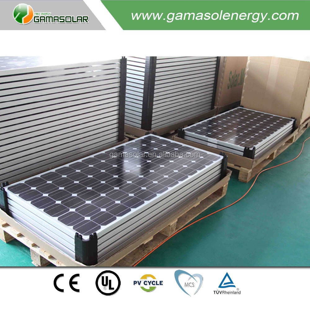 Gama Solar IEC mono crystalline 200 watt solar pv panel module for wholesale