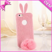 Lovely Rabbit Shaped Plush Phone Case, Phone Plush Toy, Plush Toy Case for Iphone