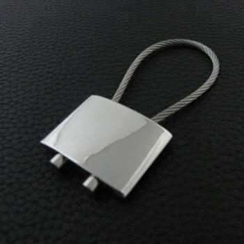 Factory custom blank square lock shape keychain