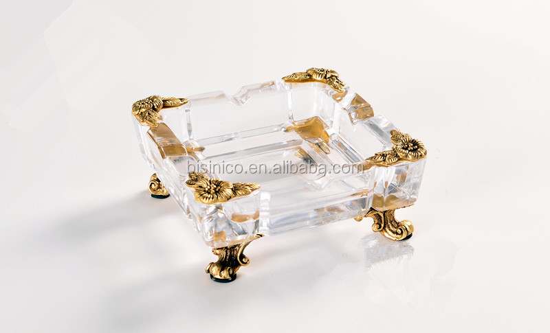 Home Decoration Classical Brass with Crystal Candlestick/Candleholder (BF01-0233)
